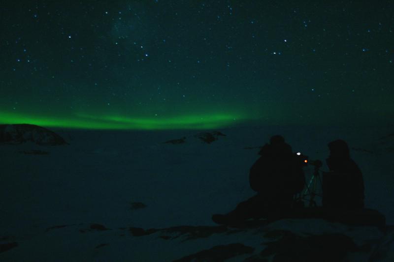 Aurore australe en Terre Adélie