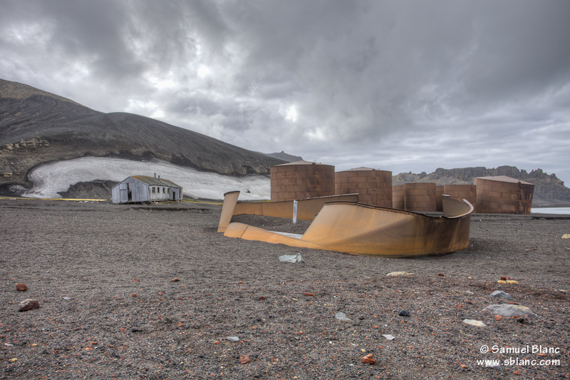 Vestiges de la station baleinière dans l'île Deception