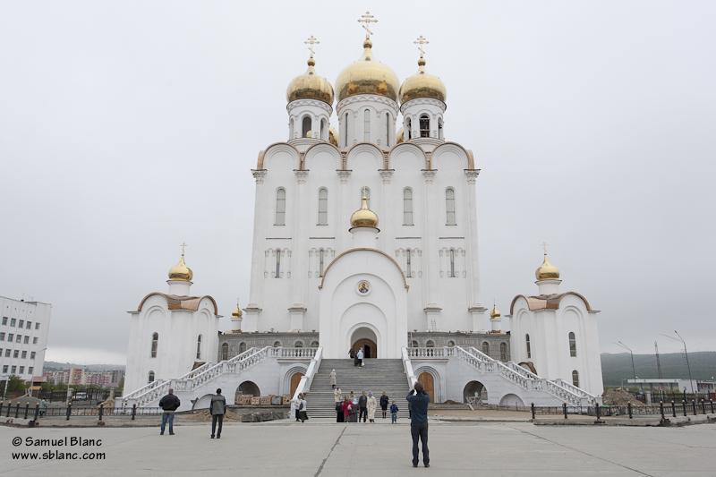La cathédrale orthodoxe de Magadan